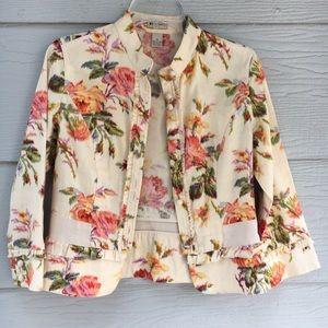 Elevenses Multicolor Anthropologie Floral Jacket